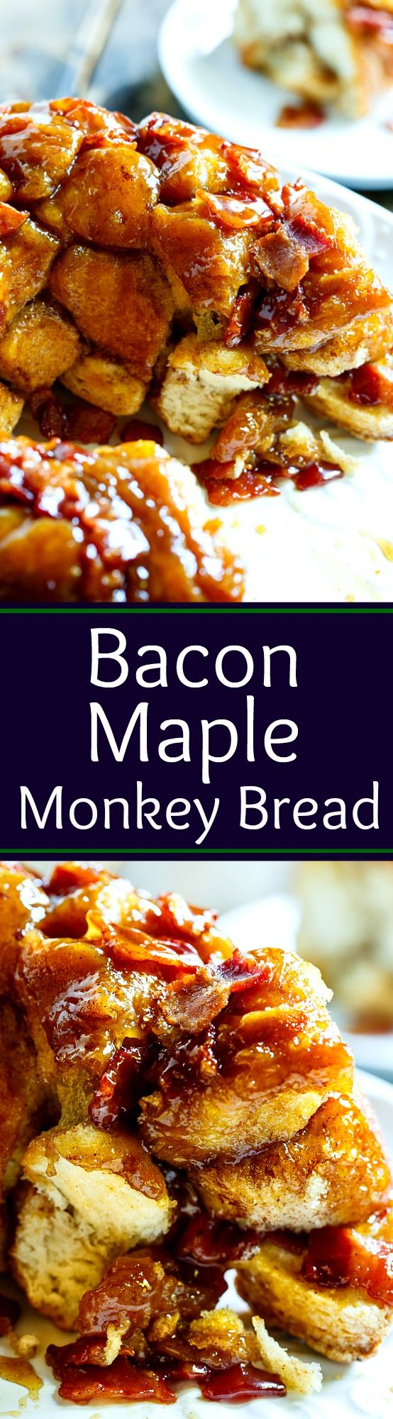 Bacon Maple Monkey Bread- so easy to make from refrigerated biscuits.