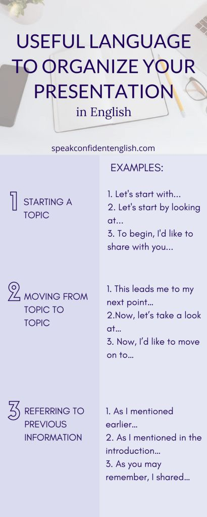 Business English. Use language to help your audience understand you clearly in your presentation. Get more essential tips and common expressions in the lesson online.https://www.speakconfidentenglish.com/present-in-english/?utm_campaign=coschedule&utm_source=pinterest&utm_medium=Speak%20Confident%20English%20%7C%20English%20Fluency%20Trainer&utm_content=How%20to%20Organize%20Your%20Main%20Points%20When%20You%20Present%20in%20English