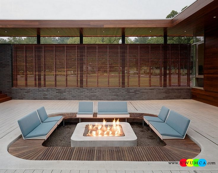 Outdoor / Gardening:Create Outdoor Lounge With Sunken Seating Area Ideas Build Conversation Pits Sunken Sitting Areas In Pool Garden Outside Decor Sunken Patio Offers Ample Privacy Along With The Wooden Slats That Surround The Place Elevate The Style Quotient Of Your Outdoor Lounge With Sunken Seating Area