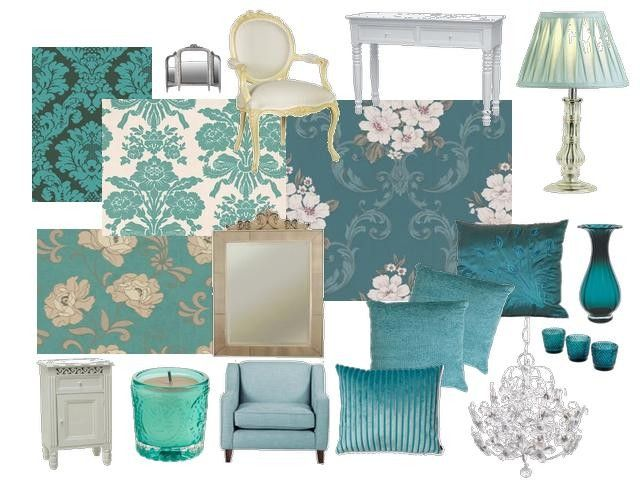 Aesthetic Teal Blue Bedroom Decor