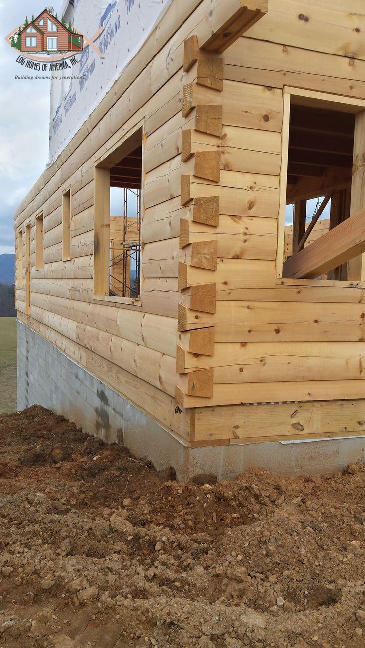 Log home builders nova scotia - 8 X12 D Log Home Under Construction Showing Dovetailed Corners Under Construction Pinterest Construction Logs And Cabin