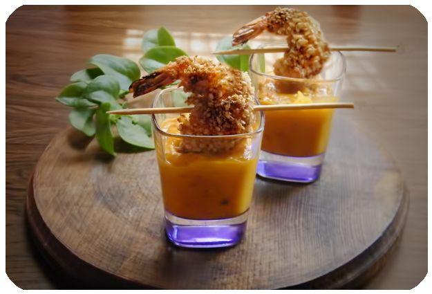 Receta de Camarones con Tempura y Panko en Salsa de Mango al Chipotle