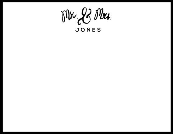 Mr. & Mrs. Wedding Stationery Perfect for by AThingCreated on Etsy