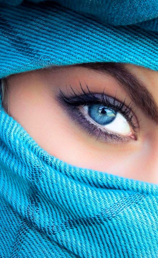 Beautiful Blue Eyes Cute Famous Girl Hair Listick: Beautiful Muslim Women With Niqab