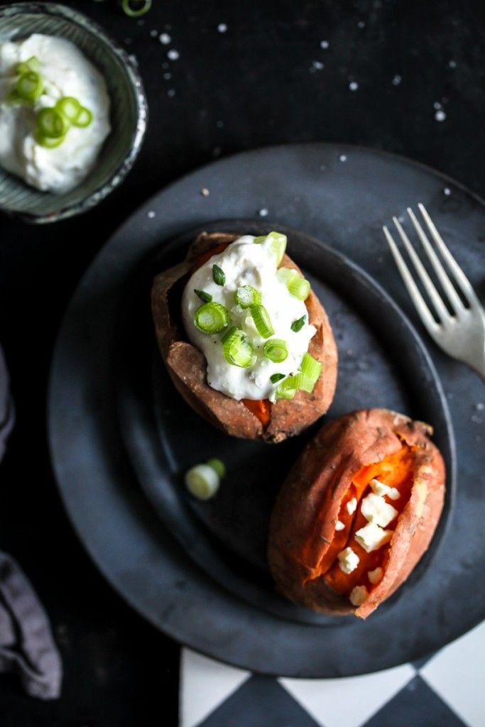 Ofen Suesskartoffel aus dem Backofen Ofenkartoffel Süsskartoffelrezept einfaches mittagessen oven baked sweet potato recipe zuckerzimtundliebe was koche ich heute