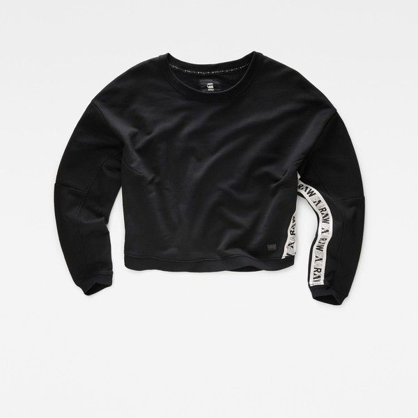 G-Star Raw Eva Shaw Cropped Sweater (350 BRL) ❤ liked on Polyvore featuring tops, sweaters, black, g-star raw, cropped sweater, long-sleeve crop tops, crop top and g star raw sweater