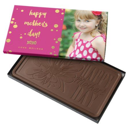 Faux Gold Foil XOXO | Mother's Day Chocolate - tap, personalize, buy right now!