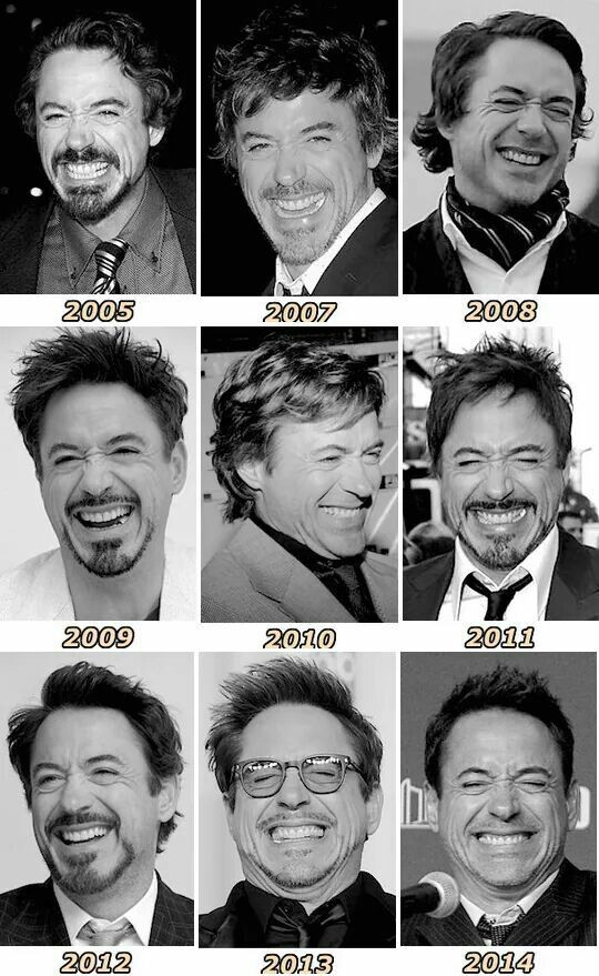 RDJ - laughing through the years. :D ;D