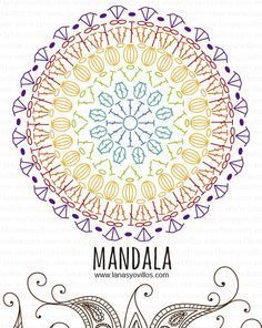mandala free crochet pattern with video tutorial, español e inglés. | tejidos | Pinterest | Mandalas, Crochet Patterns and Video Tutorials