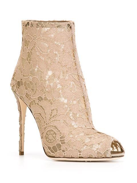 Dolce & Gabbana кружевные ботильоны с цветочным узором