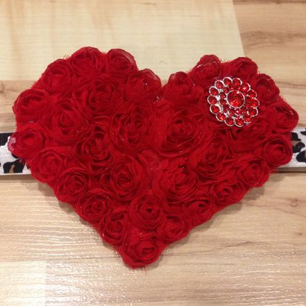 Large Whimsical Heart - Red and Leopard