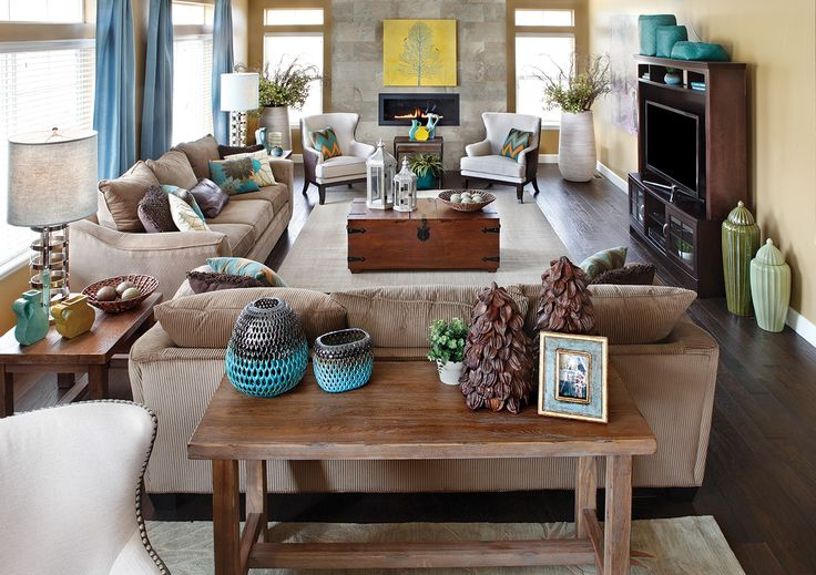 Best 25 family room layouts ideas that you will like on - How to arrange two sofas in living room ...