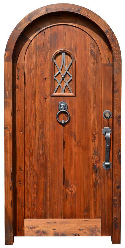 Door with speakeasy 4130at garden design pinterest for Big wooden front doors