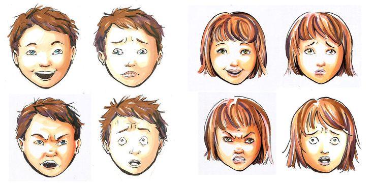 Deaf children work 1- Emotions by syalice on DeviantArt