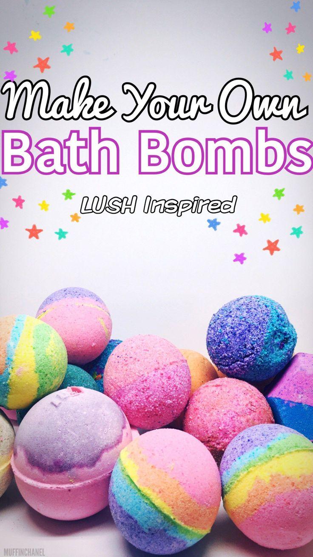 Such a great idea. I love the Bath Bomb DIY; especially the rainbow bath bombs. LUSH bath bombs DIY. Sex Bomb + Yoga Bomb. MuffinChanel