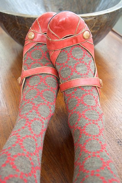 These shoes and these tights. Double love.