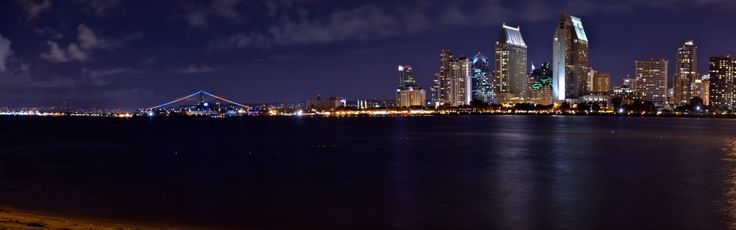 Just prior to sunrise - view of the San Diego skyline