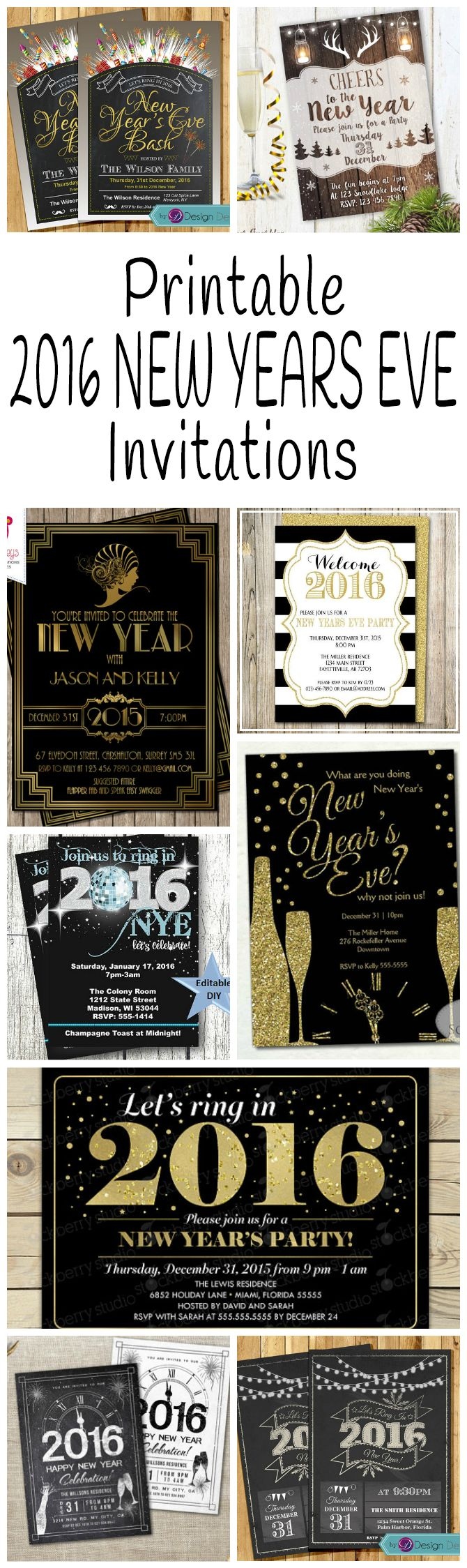 The 25+ best New years eve invitations ideas on Pinterest | New ...