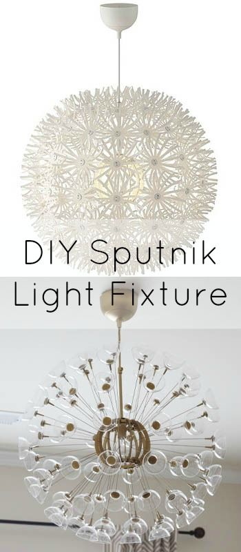 Dwellings By DeVore: DIY sputnik chandelier, love the DIY and the original dandelion light