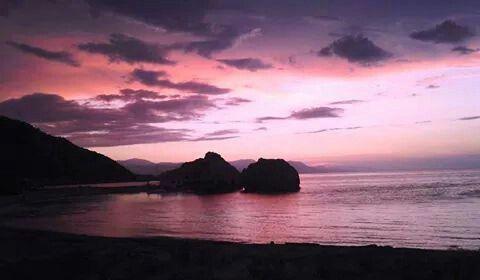 Sunset Milokopi Loutraki Greece