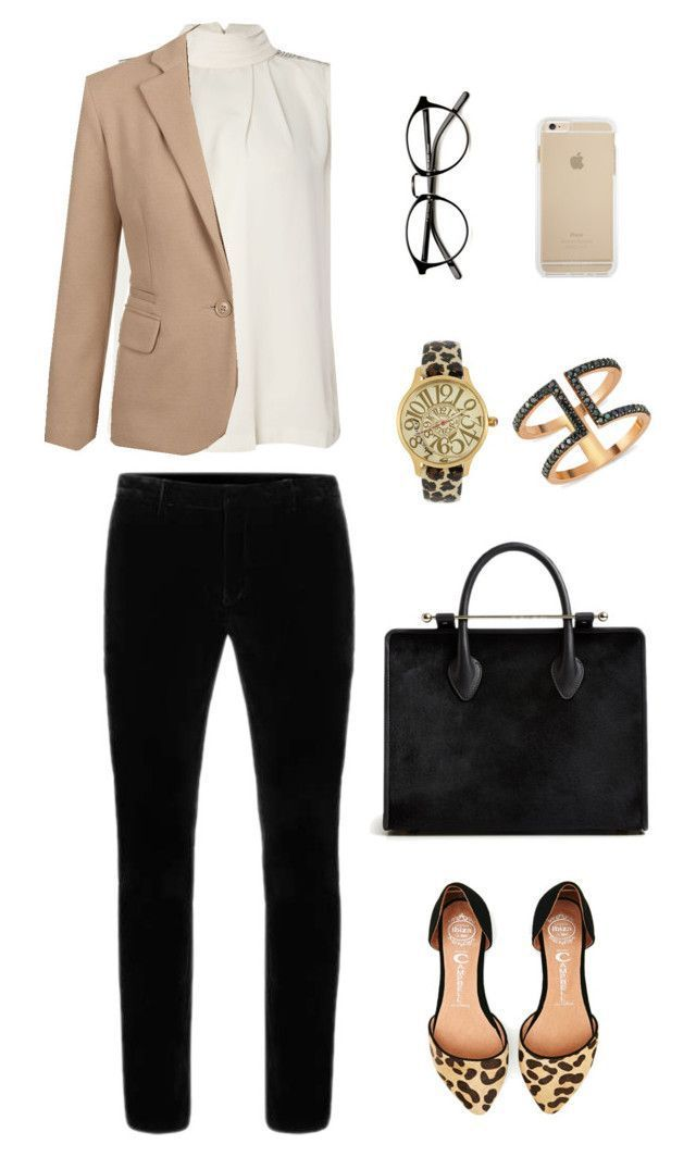 """What to Wear: Internship"" by bncollege on Polyvore featuring Y.A.S, Jeffrey Campbell, Betsey Johnson and Amorium #interviewoutfits"