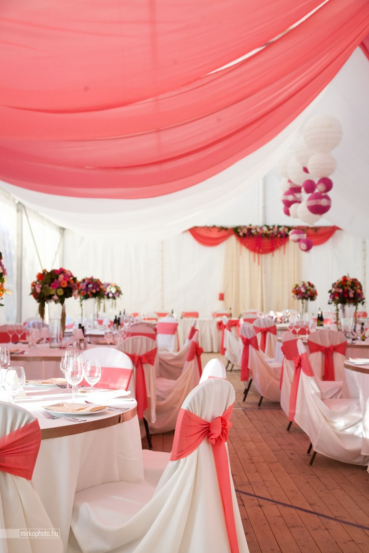 Coral wedding with a little pink and capuccino colors... in Villany City (close to Pecs)