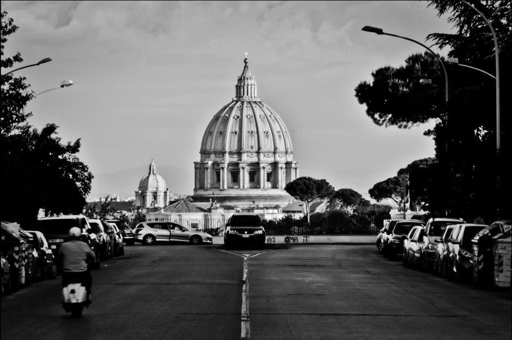 The magical perspective of  St. Peter's Dome