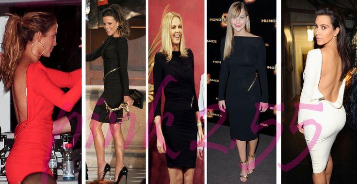 Jennifer Lopez, Kate Beckinsale, Charlize Theron, Jennifer Lawrence, and Kim Kardashian - in Tom Ford's zipper back dress