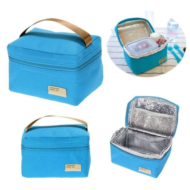 1Pcs Portable Insulated Thermal Cooler Bento Box Tote Picnic Storage Lunch Bag