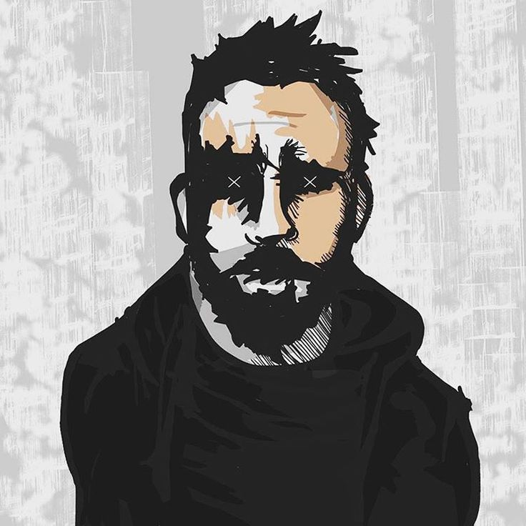Giuseppe Skid Truscelli - self portrait - illustration
