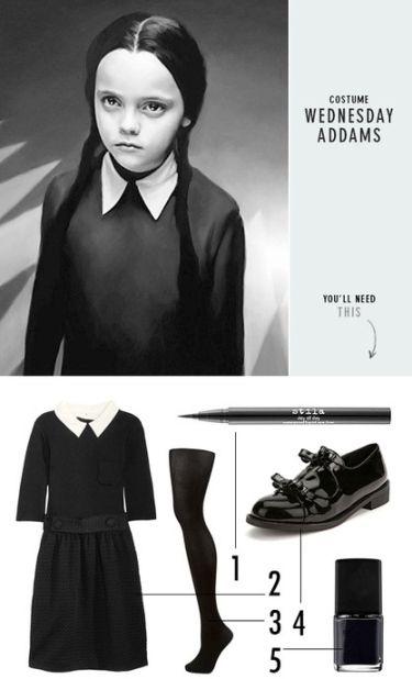 Wednesday Addams // DIY brunette costume inspiration