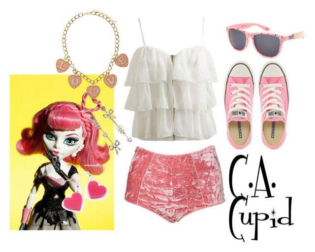 """""""C.A. Cupid//Monster High//Pool Outfit"""" by rowendell ❤ liked on Polyvore"""