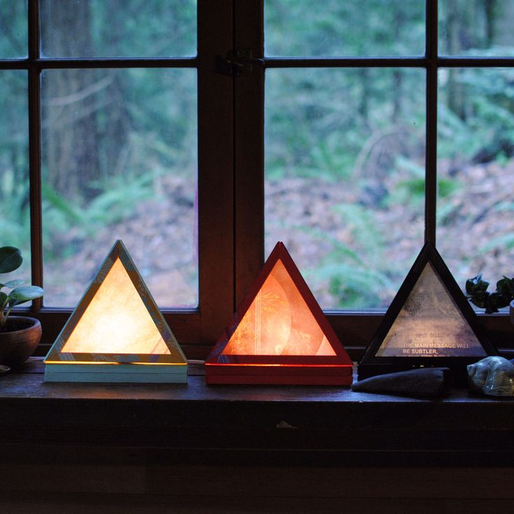 The Main Message - Pyramid Lamp in Black by SocietyNatlIndustry on Etsy https://www.etsy.com/listing/180145880/the-main-message-pyramid-lamp-in-black