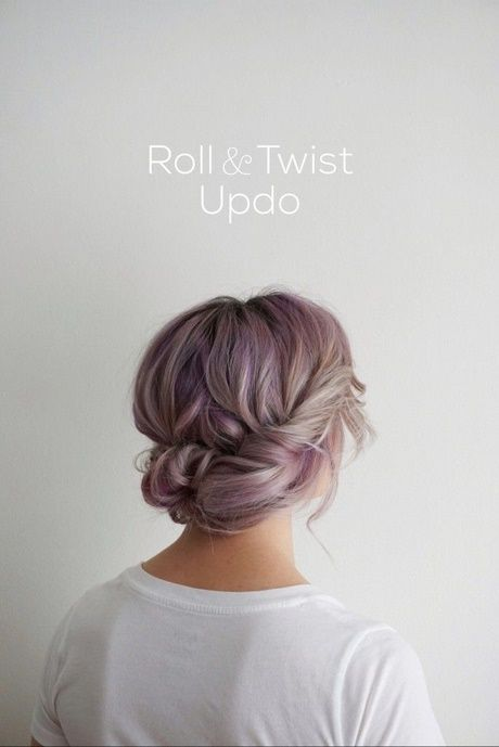 Hairstyle put up shoulder length