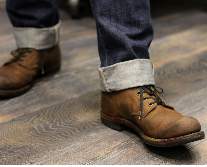 I like the boots trend, I like the cuffed pants trend, but I like how this does not include the excessive visible ankle trend.: Shoes, Men S Fashion, Style, Clothes, Mens Fashion, Men'S Fashion, Cuffed Jeans, Man, Jeans And Boots
