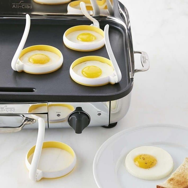 """Promising Review: """"Who would have thought that I needed these so badly! Every morning I make our copycat low calorie Egg McMuffins! Under 240 calories in less than 10 minutes! Fabulous!!"""" —MsCandyGet a set of four on Williams-Sonoma for $19.95."""