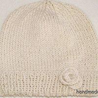 čepička, ručně pletená; baby cap, handmade, knitting