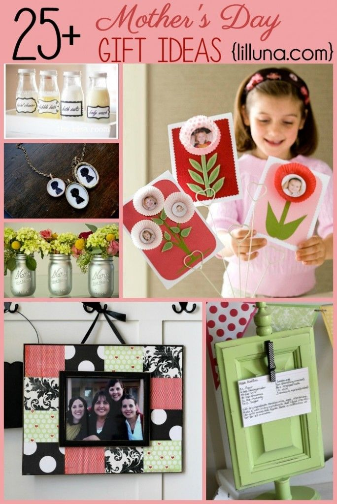 25+ Mothers Day Gift Ideas on { lilluna.com } and tons of great crafty ideas for your own home. http://lilluna.com/diy-mothers-day-gift-ideas/