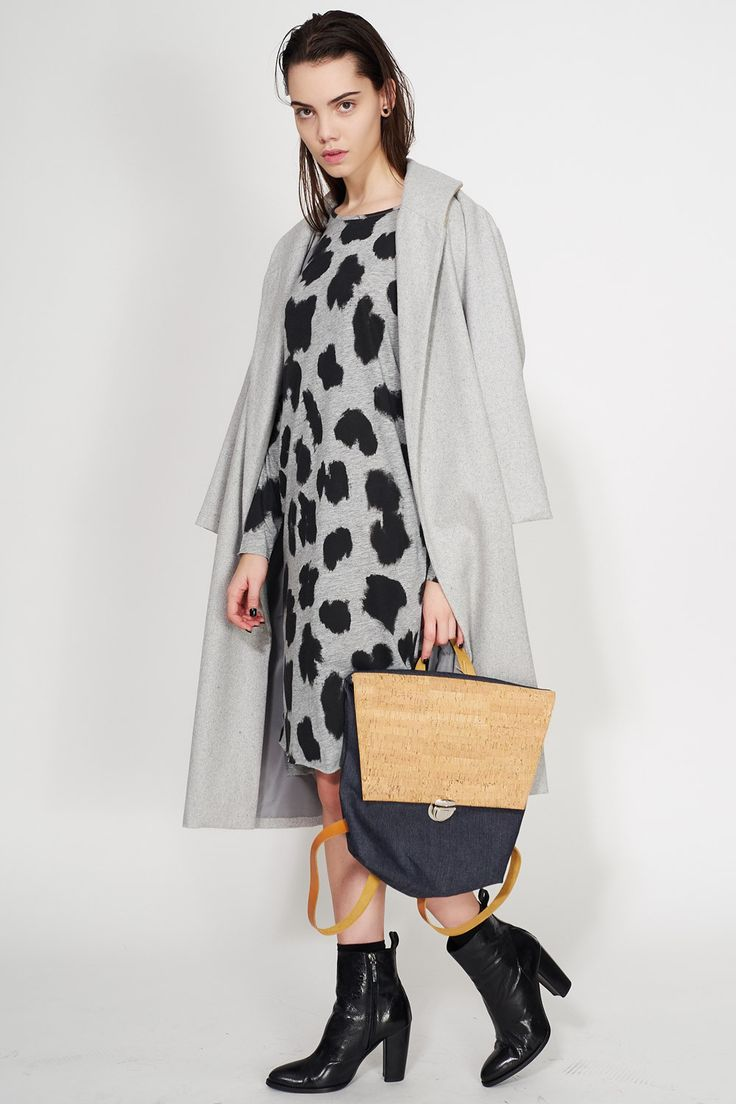 LUNAR -  OVERSIZED GRAY COAT LOOK #oversized #coat #grey #fashion #love