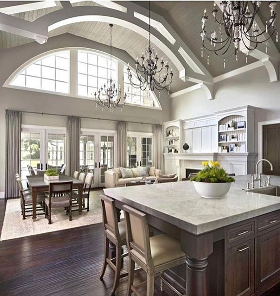 great room with lots of open spaces for seating. Best 25  Open concept kitchen ideas on Pinterest   Vaulted ceiling