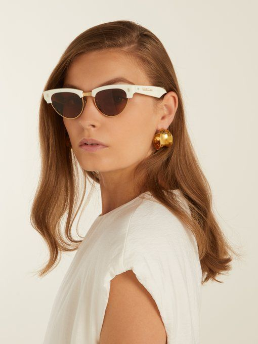 e83526b07881 Céline Eyewear Cat-eye acetate and metal sunglasses   Sunglasses ...