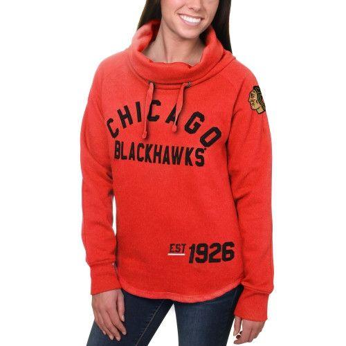 0b3bf09bd ... Womens New Jersey Devils Red Fleece Funnel Neck Pullover Sweatshirt Mens  ...