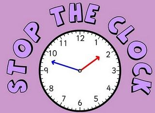 Cute game to play to practice telling time on the half hour and hour