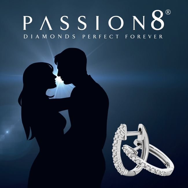 Passion8 Diamond set huggie earrings, perfect forever. Now available at York Jewellers.