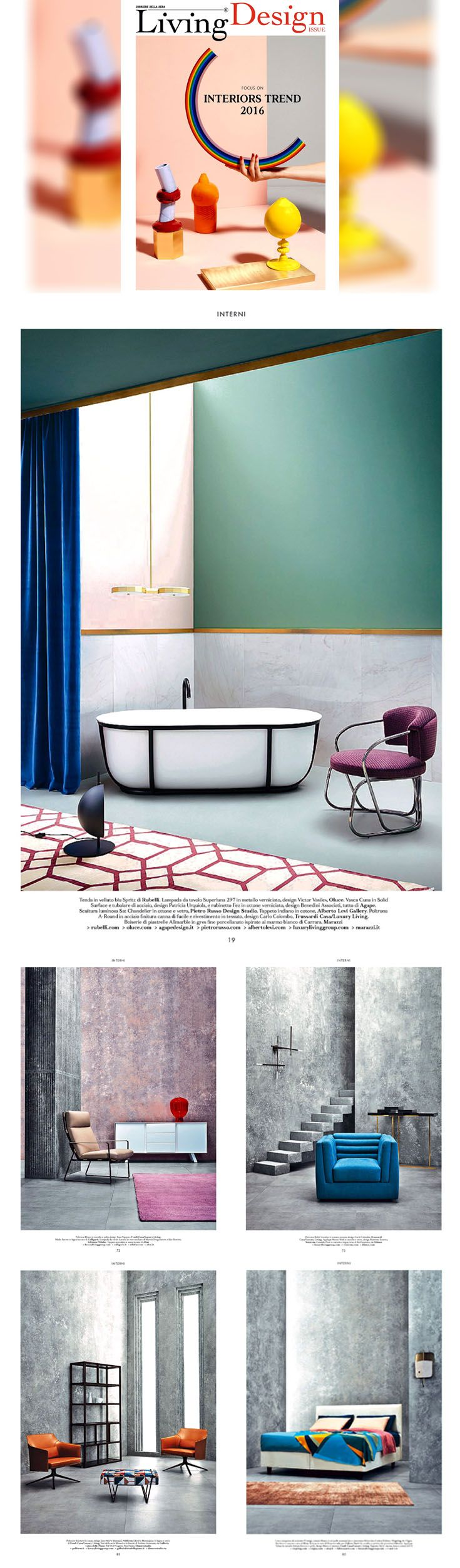 Let's discover the latest #Fendi Casa and #Trussardi Casa Collections today featured on the first Design issue of #LivingCorriere