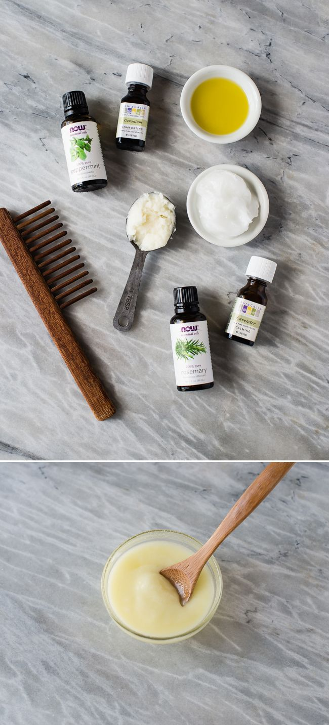 DIY Deep Hair Conditioner with Coconut Oil, Shea Butter + Argan Oil