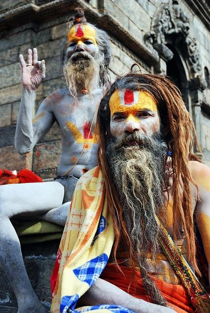 Two wise men celebrate Shiva's birthday