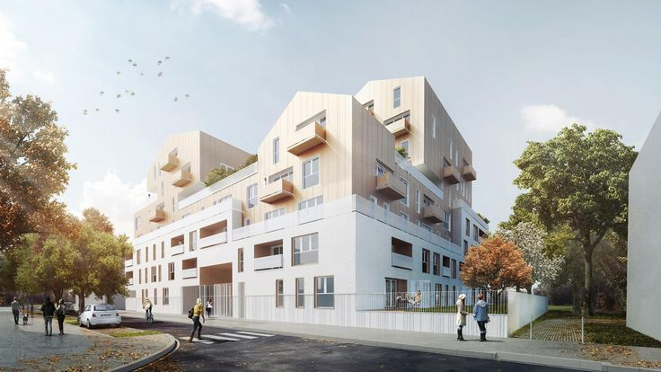 MFR Architectes / Projets / LA CITADELLE - 70 logements sociaux pour I3F…