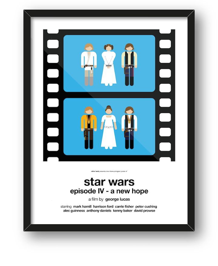 Clever Pictogram Movie Posters Summarize an Entire Movie in Two Frames - My Modern Met