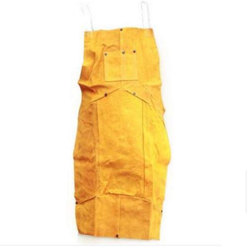 Welding Apron Hotproof Protective Cowleather Fabrics Yellow Insulation Overalls for Welders C91417